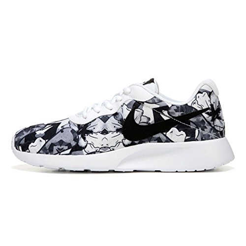 New Nike Women's Tanjun Print Sneaker White/Black 10