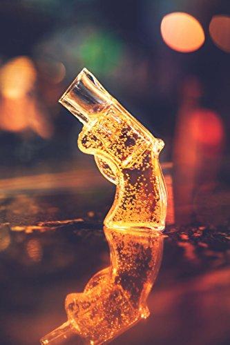 Thumbs Up! Revolver Shot Drinking Glass Shot Gun Shaped Shot Glass
