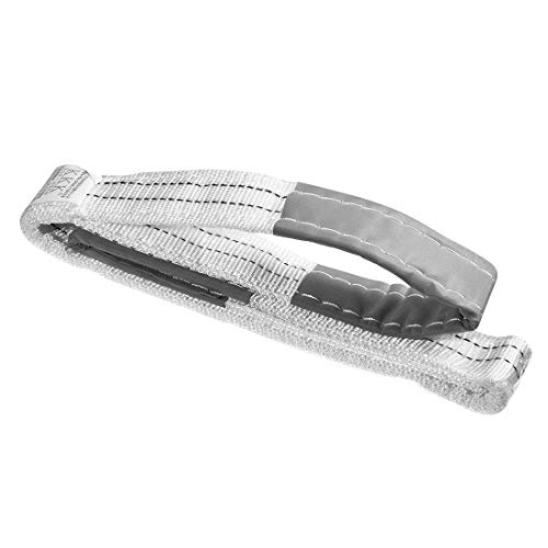 uxcell リフトストラップ 幅50 mm 全長5 M 建設リギング用 ポリプロピレン繊維材質 ホワイト