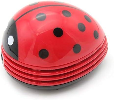 Cloverclover Mini Aspirador de Escritorio Protable, Escarabajo Rojo Bonito con batería, Aspirador de Teclado Colector de Polvo de Escritorio para el Coche de la Oficina en casa: Amazon.es: Hogar