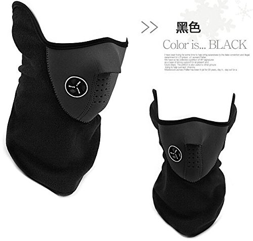 Winter Ski Mask Windproof Cycling Riding Mask Dust Protecting Mask (Black) (Guides Secret Cast Net compare prices)