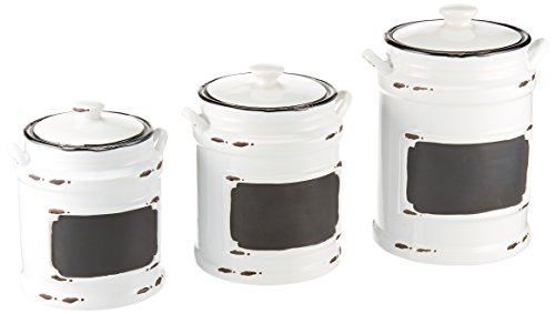 American Atelier 3 Piece Vintage Canister Set, Black