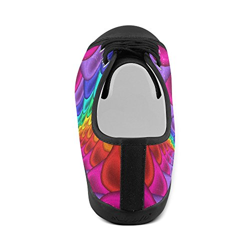 Canvas Artsadd Artsadd Rainbow Psychedelic For Shoes Spiral Model016 Women Psychedelic 6qSCqrX