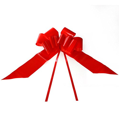 Eight24hours 23'' Giant Car Bow Red Ribbon Easy Assembly for Car Gift by Eight24hours
