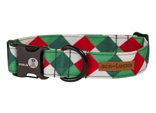 Dublin Dog Co Eco-Lucks Christmas Mistletoe Collar, Medium