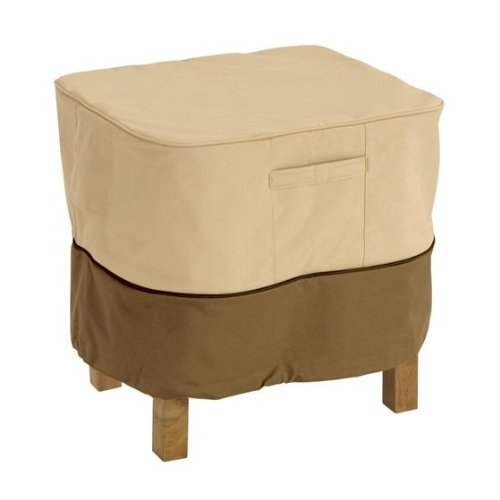 Classic Accessories Veranda Square Ottoman/Side Patio Table Cover, Large (00 Patio Table)