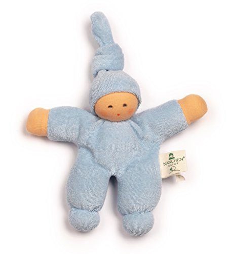 Nanchen Small Organic Cotton Doll - Pimpel (Light Blue)