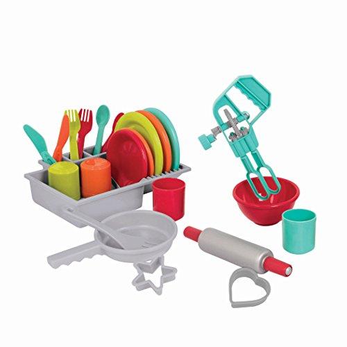 41jSui1nteL - Battat - Deluxe Kitchen - Pretend Play Accessory Toy Set (71 Pieces Including Pots & Pans)