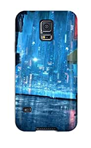 Hard Plastic Galaxy S5 Case Back Cover,hot Cyberpunk City Case At Perfect Diy