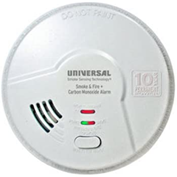 Universal Security Instruments 10 Year Tamper Proof Permanent Power Sealed Battery 3-in-1 Smoke Fire and Carbon Monoxide Smart Alarm, Model MIC3510SB