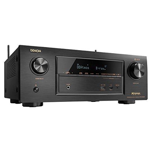 Denon AVRX3400H 7.2 Channel Full 4K Ultra HD Network AV Receiver with HEOS black, Works with Alexa