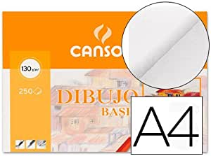 Mini pack 10 hojas papel dibujo basic A4 blanco Guarro Casas (20 ...
