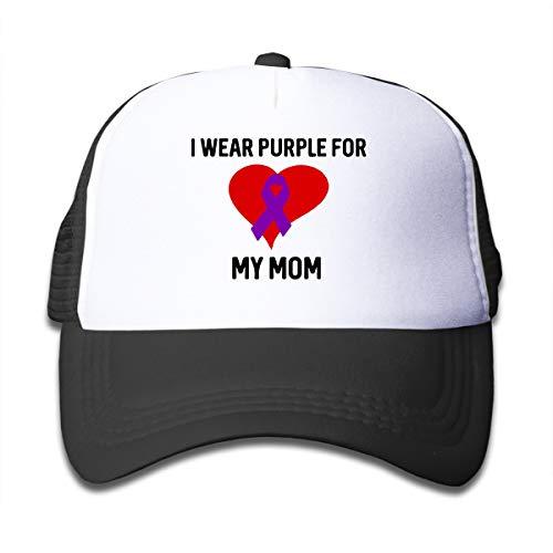 Pancreatic Cancer Awareness-1 On Children's Trucker Hat, Youth Toddler Mesh Hats Baseball Cap Black