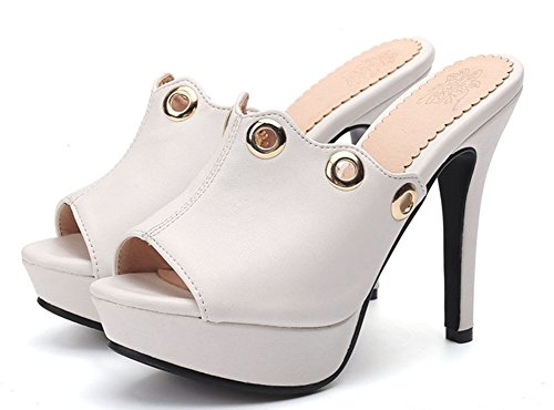 Women's Toe Peep Comfy with White Stiletto High Aisun Platform Sandals pAq7nPx