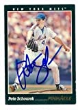 Autograph Warehouse 83096 Pete Schourek Autographed Baseball Card New York Mets 1993 Pinnacle No .324