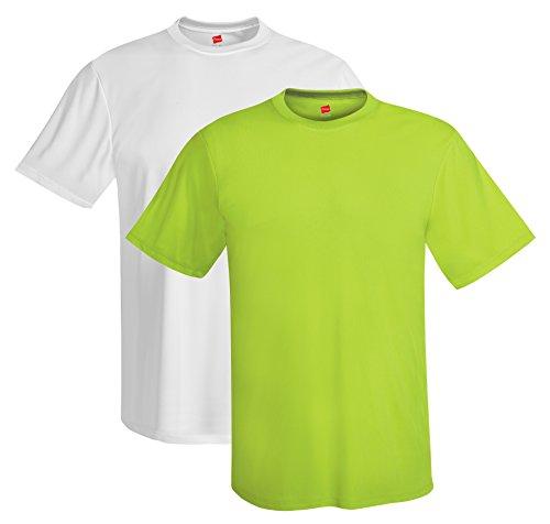 (Hanes mens 4 oz. Cool Dri T-Shirt(4820)-Safety)