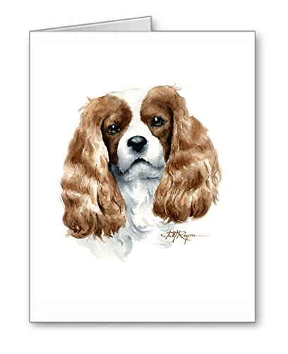 Cavalier King Charles Spaniel - Set of 10 Dog Note Cards With Envelopes
