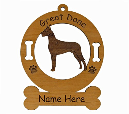3288 Great Dane Black Standing Ornament Personalized with Your Dog's Name ()