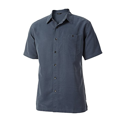 Royal Robbins Men's Mojave Desert Pucker S/S Slate Button-up Shirt