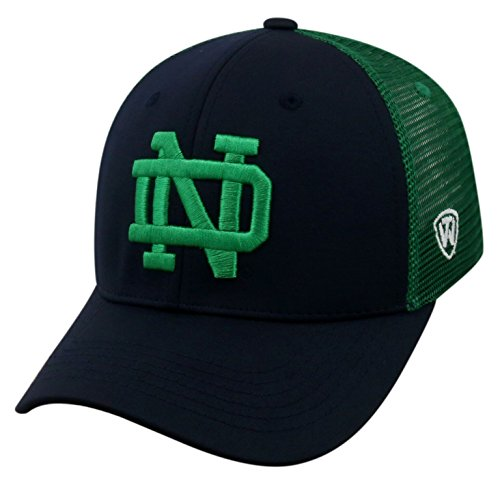 Adjustable Trucker Cap Mesh (Top of the World NCAA-Ranger Trucker Mesh-Adjustable Snapback Hat Cap-Notre Dame Fighting Irish)