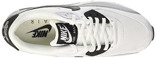 Nike Donna Sportive Max Bianco Air Grey Black White Scarpe Wmns 90 Essential Wolf fw0rx1qAf4