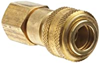Dixon DCB Series Brass Air Chief Industrial Interchange Quick-Connect Air Hose Fitting, Coupling x NPT Female