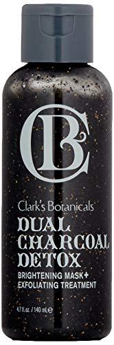 Clarks Botanicals Skin Care - Clark's Botanicals Dual Charcoal Detox Brightening Mask And Exfoliating Treatment, 4.7 Oz.