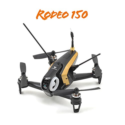 Walkera Rodeo 150 RTF FPV RC Quadcopter Race Drone w DEVO 7, 600 TVL Cam (Black)