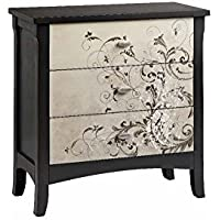 Stein World Furniture 3-Drawer Chest with Freeform Scroll Pattern
