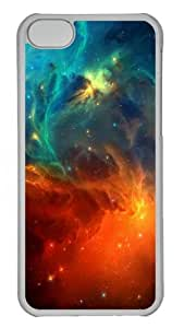 funny cover space nebula stars PC Transparent case for iphone 5C