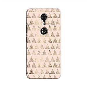 Cover It Up - Brown Light Pink Triangle Tile Gionee A1 Hard Case