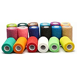 """Over The Moon Pet Products Paw Wraps Veterinary Bandages for Dogs- 2"""" Multi-Color 6 Pack"""