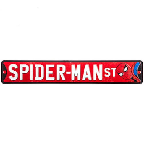 (Spider-Man Street Metal Sign Wall Art Home Decoration Theater Media Room Man Cave)