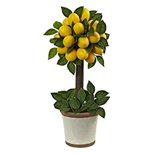 Nearly Natural Lemon Ball Topiary 34