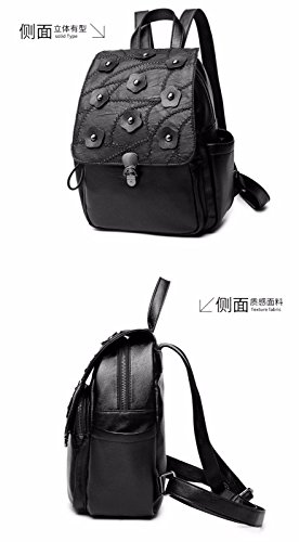 Women's PU Small with Large Clutch Leather Pockets Capacity Shoulder Soft Vintage MSZYZ Casual Shoulder Body Wristlet Many Cross Bags Shoulder qnPdRwZF