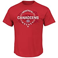 Montreal Canadiens Majestic NHL Clearing the Puck Short Sleeve Mens T-Shirt
