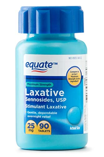 (Equate - Maximum Strength Laxative, Sennosides Stimulant Laxative, 25 Milligram, 90 Count)