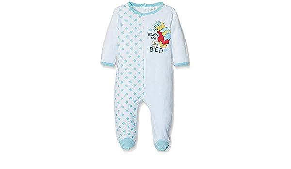 Pijama terciopelo bebé niño Winnie the Pooh azul y naranja de 3 a 23 meses azul azul Talla:6 meses: Amazon.es: Bebé