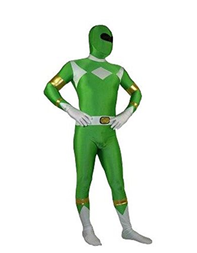 Riekinc Halloween Power Rangers Cosplay Green Zentai Suit