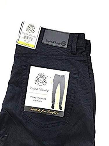 English Laundry Men's 5-Pocket Straight Leg Pant (40X 32, Navy)
