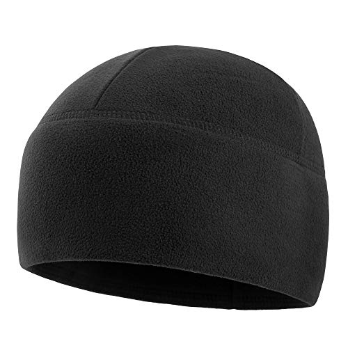 - M-Tac Watch Cap Fleece 260 Slimtex Mens Winter Hat Military Tactical Skull Cap Beanie (Large, Black)