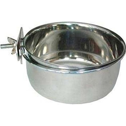 STAINLESS STEEL Cage Coop Cup Bolt Clamp Hanger Bird Cat Dog Puppy Crate Bowl 30 oz / 0.90 (Bolt Clamp Coop Cups)