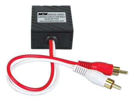 MCM Custom Audio 50-7724 L/R Stereo Audio Balun (Balun Audio)