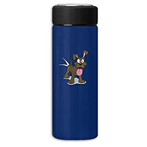 Brown Dog Dull Polish Business Thermos Bottle Stainless Cup,Potable Water Bottle