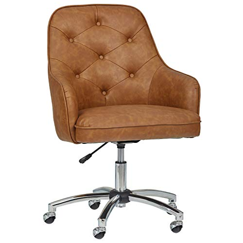 Amazon Brand – Stone & Beam Mid-Century Swivel Chair, 25.2″W, Brown