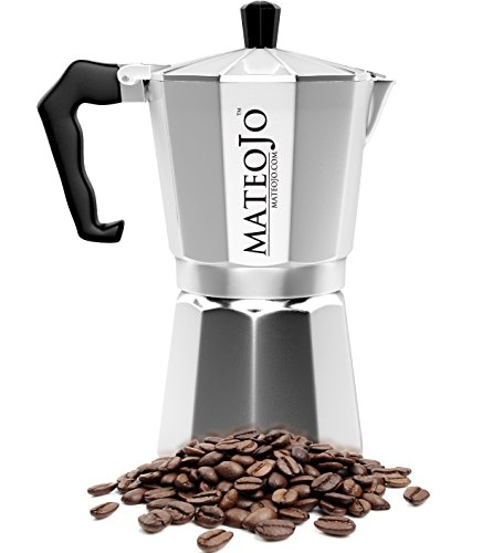 stovetop espresso maker italian moka pot cafetera cuban coffee machine medium by mateojo. Black Bedroom Furniture Sets. Home Design Ideas