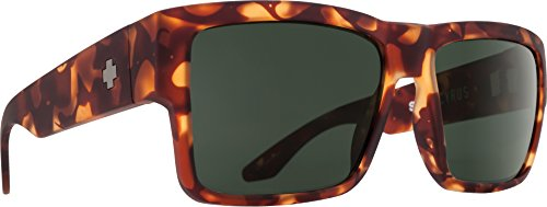 Spy Optic Cyrus Flat Sunglasses, Soft Matte Camo Tort/Happy Gray/Green, 1.5 ()