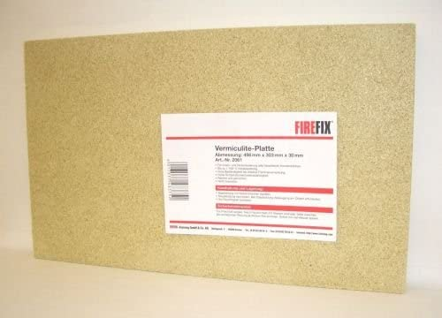 Placas de vermiculita 400 x 300 mm, 30 mm de grosor