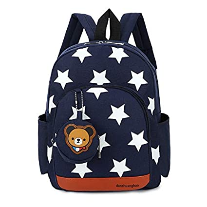 d85b6c90e5ba Image Unavailable. Image not available for. Color  DingXiong Boys Backpacks  for Kindergarten Stars Printing Nylon Children Kids School Bags Baby Girls