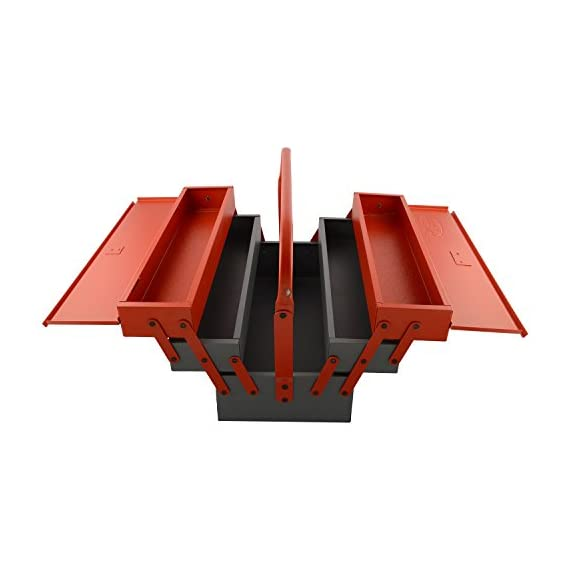 Venus VTB Metal Tool Box with 5 Compartment Box (Red) 4
